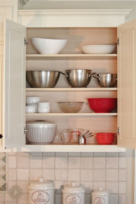 organizing  kitchen cabinets domestic charm