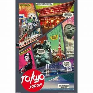 Poster Xxl Collage : poster japon tokyo collage un joli emballage cadeau achat vente affiche cdiscount ~ Orissabook.com Haus und Dekorationen