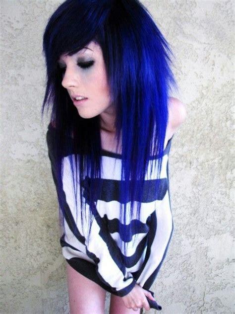Electric Blue Hair Color Beauty Pinterest