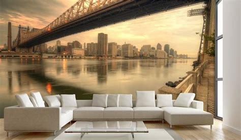 Wandgestaltung Tapete Wohnzimmer by Living Room Photo Wallpaper Wall Mural Photowallpaper