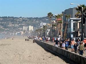 Mission Beach - Pacific Beach Boardwalk, San Diego CA