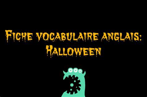 Vocabulaire D'halloween En Anglais