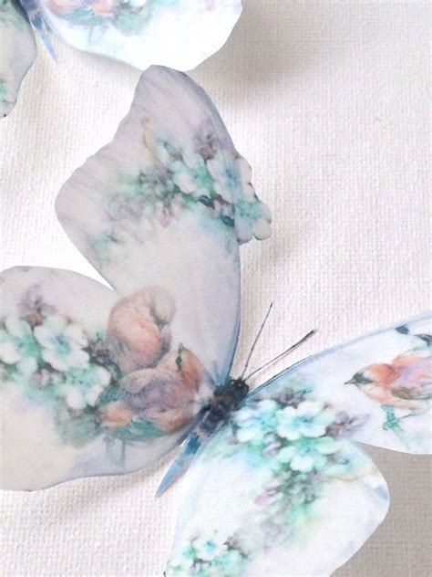 duck egg blue shabby chic 4 shabby chic duck egg flowers birds 3d butterflies butterfly decals decorations ebay