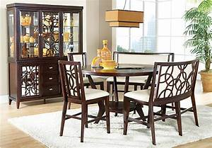 Cindy crawford home highland park ebony 5 pc counter for Cindy crawford dining room furniture