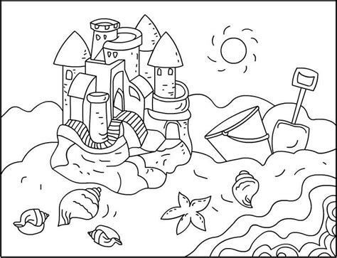 Coloring With Sand by S Free Coloring Pages Sandcastles Coloring Pages