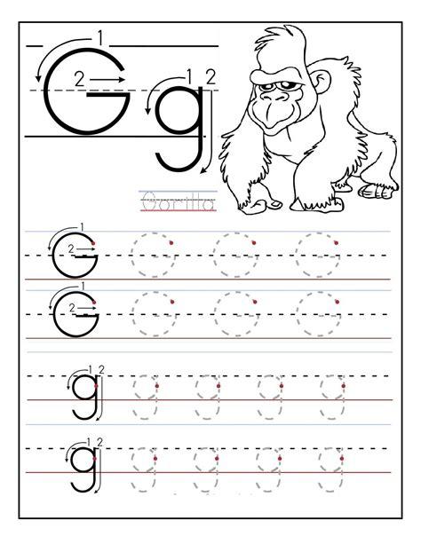 g worksheets for preschool free printable letter tracing worksheets for preschoolers 713