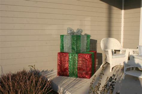 do it yourself outdoor lighted gift boxes money