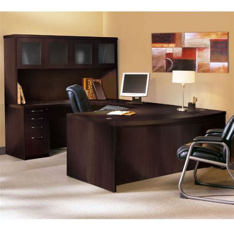 executive desk with hutch black executive desk home office furniture for elegance