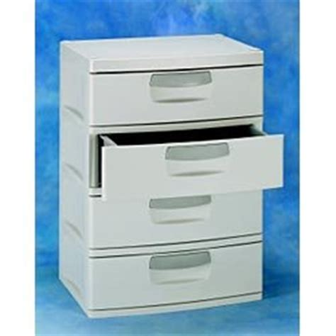 Sterilite 4 Drawer Cabinet 2 Pack by New Sterilite Light Platinum Colored Heavy Duty Plastic 4