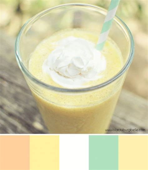 creamsicle smoothie color inspiration color inspiration
