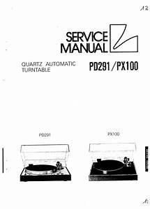 Luxman Pd-291   Px-100   Turntable   Original Service Manual