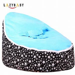 lazybaby large star baby bean bag chair kids bed for With bean bag fold out bed