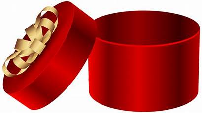 Gift Box Open Clipart Clip Round Present