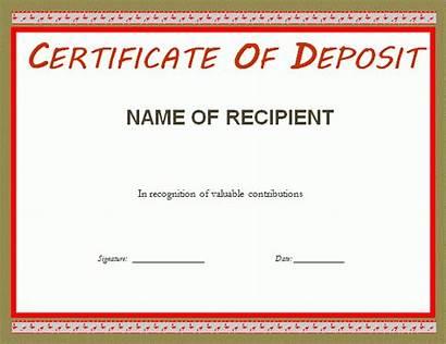 Deposit Certificate Template Templates Certificates Sample Professionaltemplates
