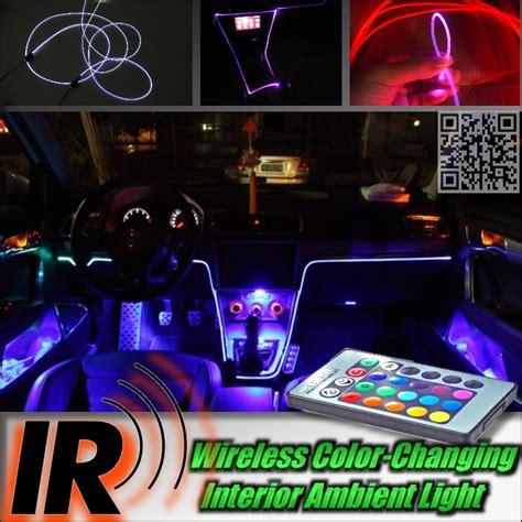 oule led pour interieur voiture wireless car interior ambient color rgb light diy instrument panel dashboard cool light