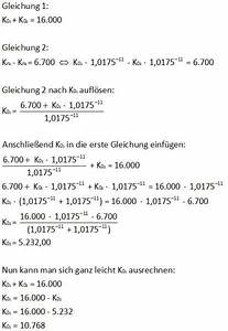 Zinseszins Berechnen : zinseszins zwei kapitalien berechnen mathelounge ~ Themetempest.com Abrechnung