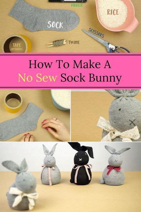 sew sock bunny easter crafts  kids