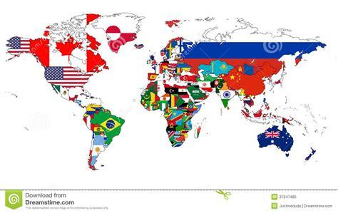 world flag map royalty  stock photo image