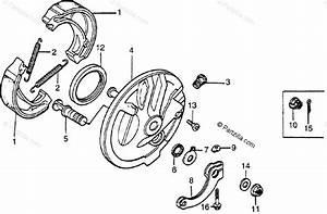 Honda Motorcycle 1981 Oem Parts Diagram For Front Brake    Panel