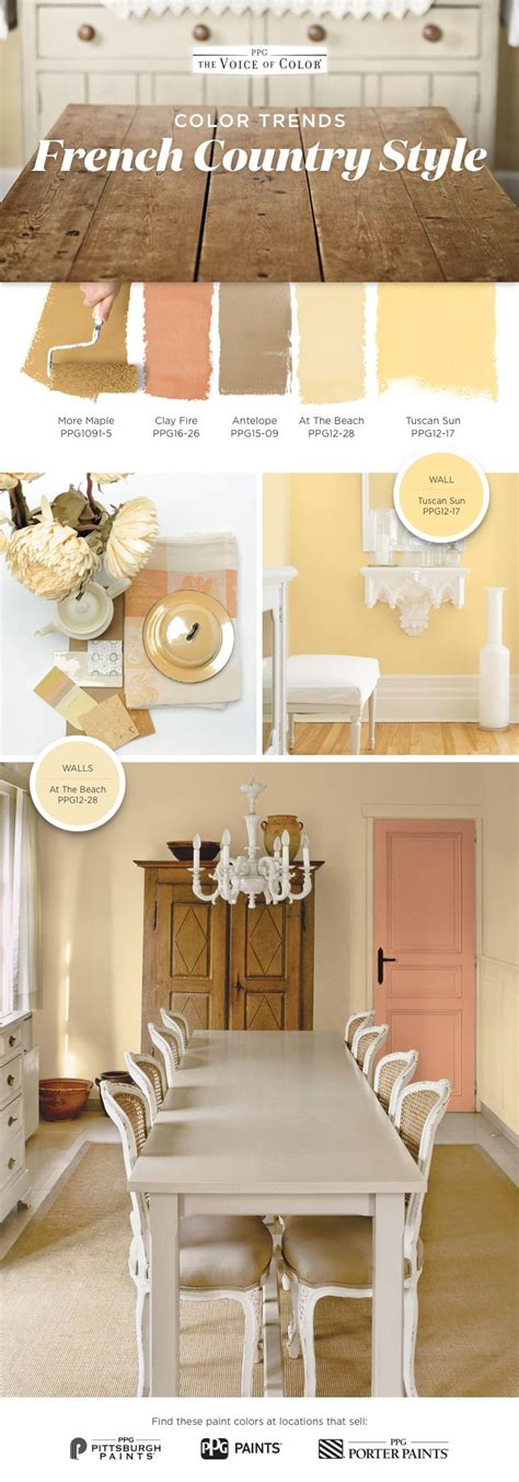 French Country Color Palette! You Don't Need A Getaway In