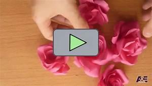 Basteln Mit Papier Anleitung : ganz einfache tolle rosen aus papier basteln videos ~ Frokenaadalensverden.com Haus und Dekorationen