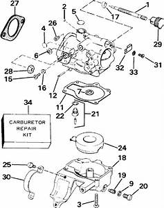 Johnson Carburetor Parts For 1987 30hp J30rcub Outboard Motor