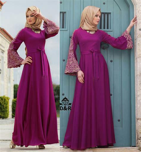 model gamis terbaru setelan baju muslim wanita modern ryn fashion