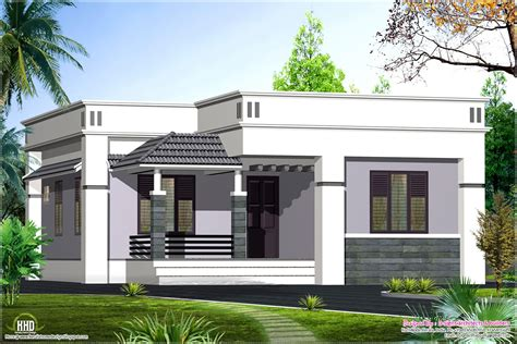 one floor house design 1100 sq home kerala plans - One Floor House