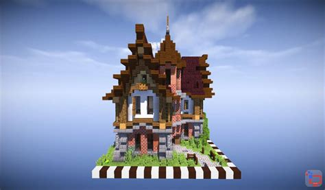 mediveal minecraft house timelapse speed build  map  minecraft building
