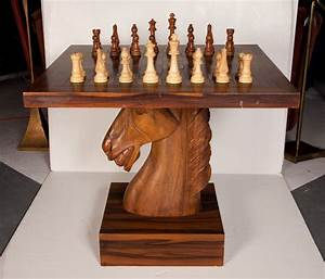 American Fantasy Knight Chess Table at 1stdibs