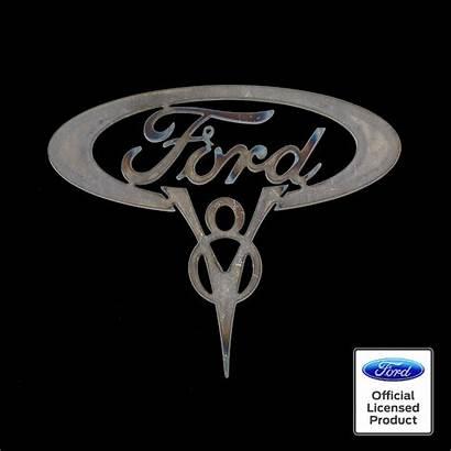 V8 Ford Emblem Metal Cutout Script