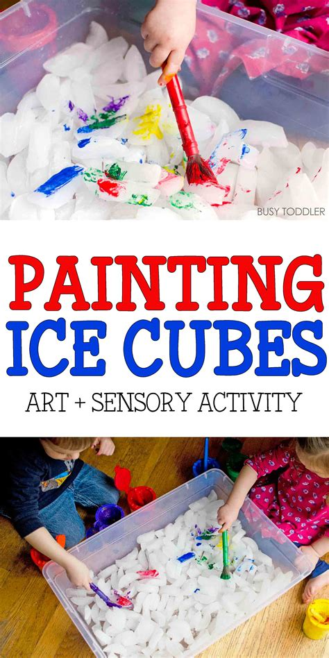 painting cubes activity busy toddler 661 | icepaintingpin