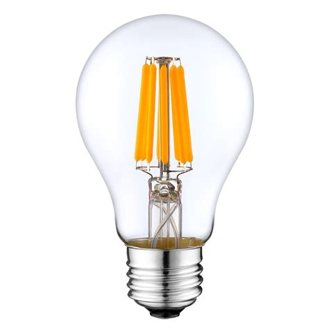 a19 led filament bulb 6 watt dimmable 40w equiv 600