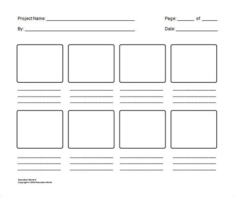Storyboard Template Storyboard Template 85 Free Word Pdf Ppt Psd Format