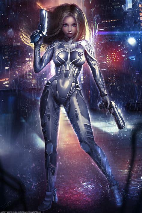 digital art  eddy shinjuku fantasy  sci fi artist