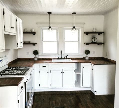 Farmhouse Kitchen Countertops - farmhouse kitchen on the cheap cabinets from craigslist