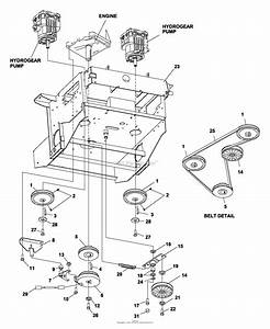 Bunton  Bobcat  Ryan 742241c Pro Cat Z 33hp Gen W  61 Sd Parts Diagram For Lower Engine Deck Assy