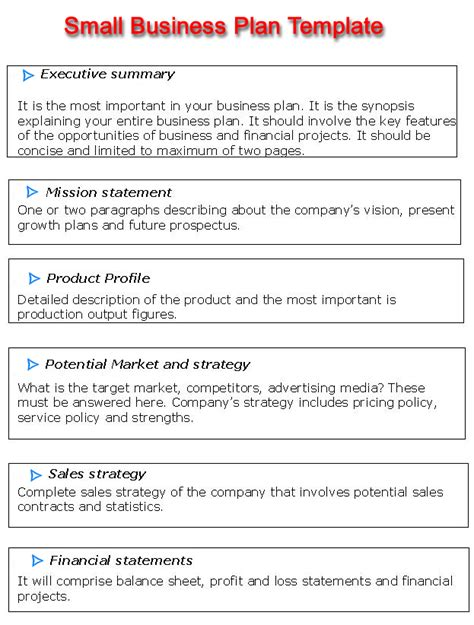 Small Business Plan Template Business Plan Template Features With Free Word Template To