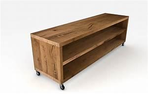 Tv Board Holz Massiv : hifi m bel eiche ~ Bigdaddyawards.com Haus und Dekorationen