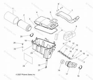 Polaris Atv 2008 Oem Parts Diagram For Engine  Air Intake