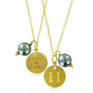 Initial Necklace Pearl Charm Letter H Diamond Pendant ...