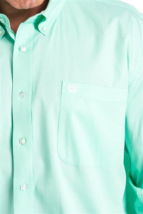 cinch jeans mens xl solid mint green button