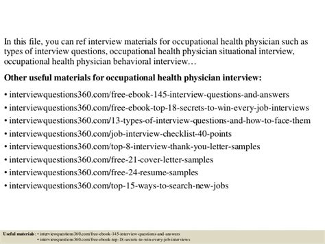 Questions For Occupational Health by Top 10 Occupational Health Physician Questions