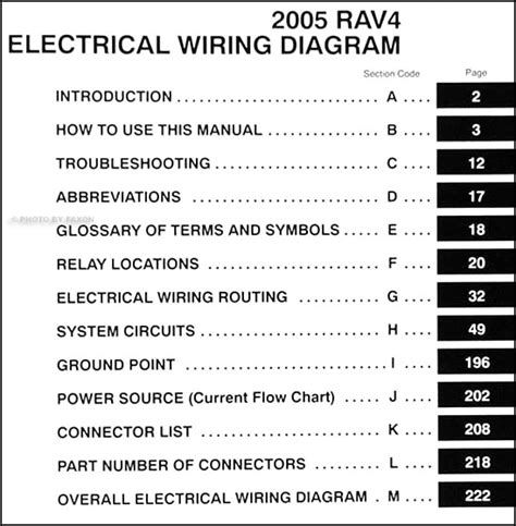 Toyota Rav Wiring Diagram Manual Original