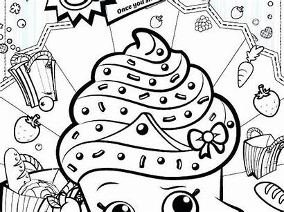 Shopkins Coloring Shoppies Pages Printable Getcolorings Ring