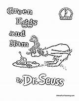 Ham Eggs Coloring Seuss Dr Printable Worksheets Sam Sheets Cat Birthday Across America Worksheet Colouring Theater Hat Teaching Readers Theme sketch template