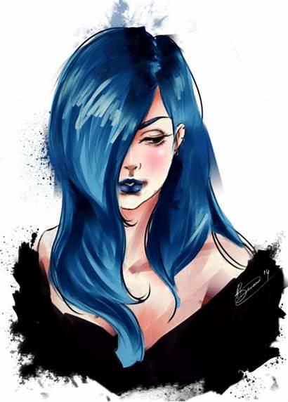 Drawing Hair Haired Drawings Anime Digital Dark