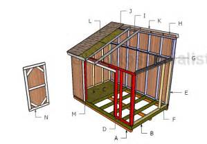 8x12 lean to shed double door plans howtospecialist