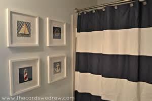 nautical bathroom ideas nautical bathroom makeover the cards we drew