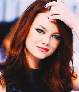Emma Stone - hair color dark red   Get yo hair did